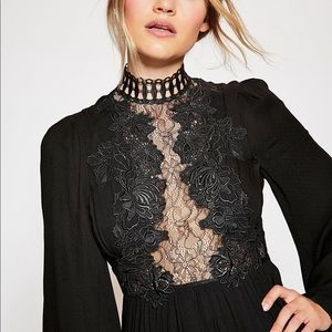 Free People Divine Black Mini Dress